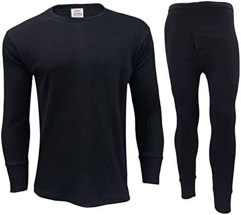 Camping /& Ski Wear Mens Thermal Underwear Full Sleeve Vest for Winter 4 Colours Medium, Charcoal Grey