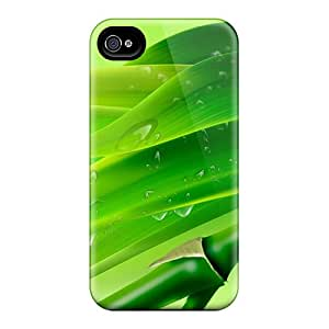 Iphone 4/4s Case Cover - Slim Fit Tpu Protector Shock Absorbent Case (bamboo Drops)