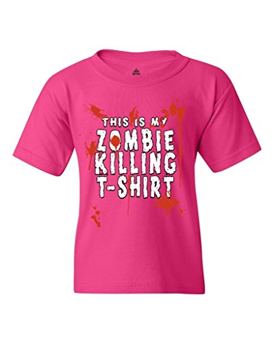 Shop4Ever® This is My Zombie Killing Shirt Youth's T-Shirt Funny Sayings Shirts