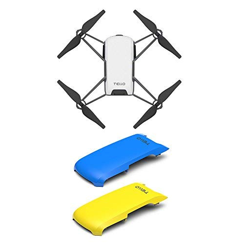Tello Quadcopter Drone with HD Camera and VR,Powered by DJI Technology and Intel Processor,Coding Education,DIY Accessories,Throw and Fly (with Blue/Yellow Cover)
