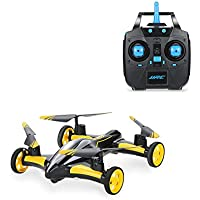 ALLCACA RC Car Flying RC Drone Quadcopter 2.4Ghz Remote Control Vehicles with LED Lights and 3D Flip 6-Axis Gyro Headless Mode Radio Controlled Helicopter without Camera (Yellow)
