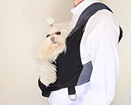 Ultimate Small Dog Carrier Sling By Kangapooch, Designed and Handmade in USA By Chelsea Snyder, Premium Jersey Knit Organic Cotton, Lifetime Warranty (XL)