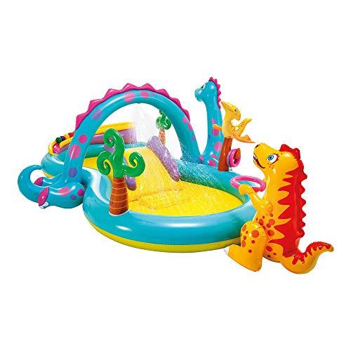 🥇 Intex-57135NP Dinoland Play Center-Centro de juegos acuático hinchable