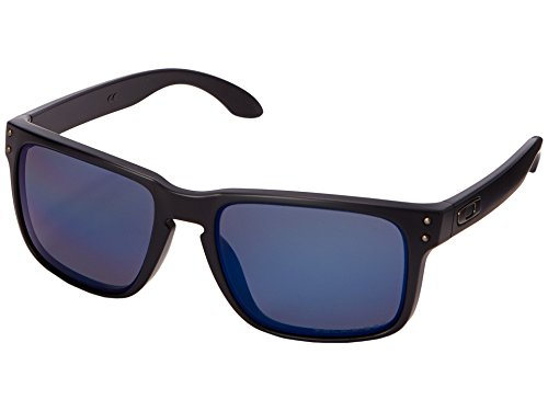 Oakley mens Holbrook OO9102-52 Iridium Polarized Sport Sunglasses,Matte Black/Ice,57 mm