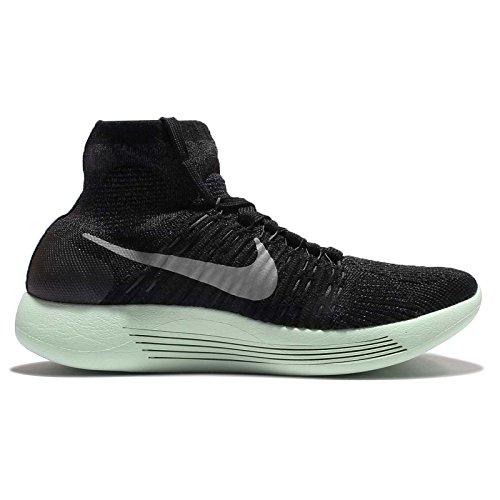 Nike Wmns Lunarepic Flyknit Lb, Zapatillas de Running Para Mujer Negro (Blk / Mtlc Pwtr-Anthrct-Vltg Grn)