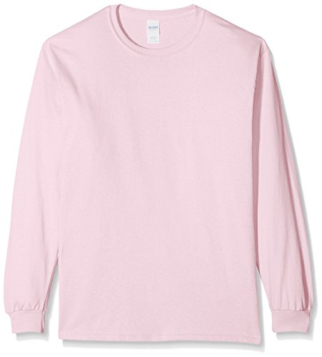 Pink light Cotton sleeve Uomo T Rosa Tee Ultra Gildan Pink Light L shirt 7qzwS5x6