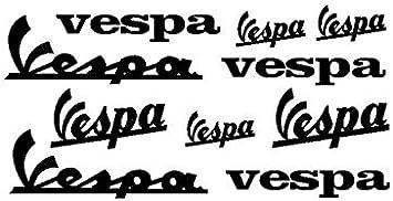 Supersticki Vespa Schriftzug Logo Set 10 20cm Aufkleber Roller Motorroller Scooter Autoaufkleber Wandtattoo Sticker Profi Qualität Für Lack Scheibe Etc Waschanlagenfest Auto