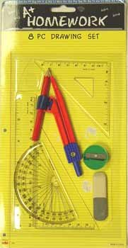 Math & Drawing set - 8 asst. tools 48 pcs sku# 92831MA by DDI