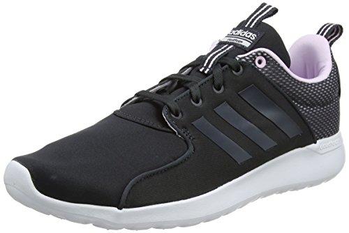 adidas Women's CF Lite Racer W Fitness Shoes Grey (Carbon S18/Carbon S18/Aero Pink S18 Carbon S18/Carbon S18/Aero Pink S18)