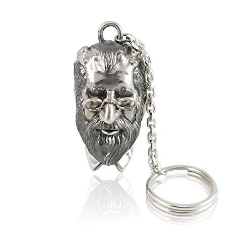 Silver Key chain ''Sigmund Freud'' by Sribnyk - Gallery of Silver Art