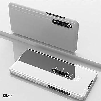 Funda Xiaomi Mi 9 Fundas de Espejo Elegante Carcasa de Función Inteligente para Dormir/Despertar,Vista Inteligente Cover Carcasa Funda Case para ...
