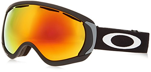 Oakley Canopy Snow Goggle, Matte Black with Fire Iridium - Oakley Fire Goggles Iridium Ski