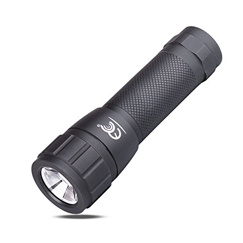 MCCC LED Flashlight Spot and Flood Light Adjustable Focus Zoomable Super Bright Mini Pocket Lightweight Aluminum Light(Black)