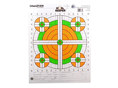 Champion Score Keeper 100 Yard Sight-in Rifle Targets 14