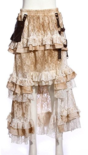 RQ-BL - Falda - para mujer blanco blanco talla única