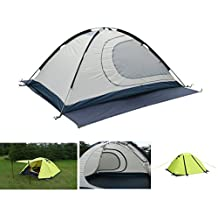 Luxe Tempo 2 Person 4 Season Tents for Camping Backpacking Aluminum Poles All Weather Tested & Approved 2 Door 2 Vestibules Reflective