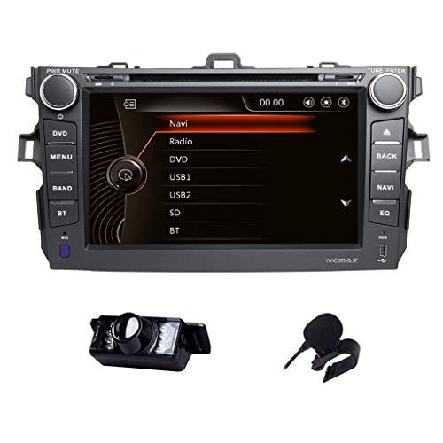 Car Stereo Toyota Corolla 2007-2013 Double Din in Dash Head Unit Car GPS Navigation MAP AM FM Radio DVD CD Player Bluetooth USB SD 3G DVR CAM-in -