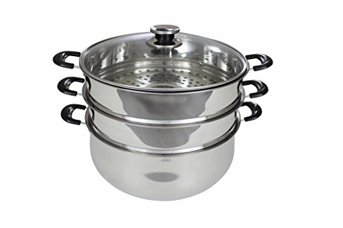 stainless steel 2 tier steamer - 7