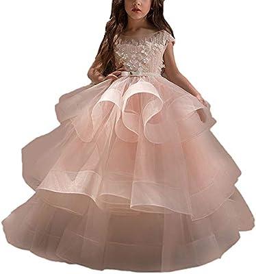 Vestido de la falda de baile de los niños niñas Sin mangas para ...
