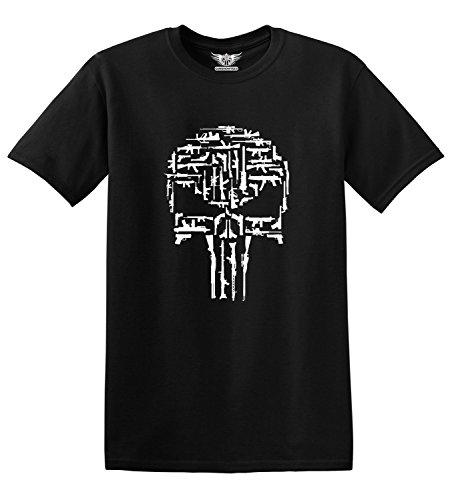 GunShowTees Men's Gun/Skull Logo Shirt