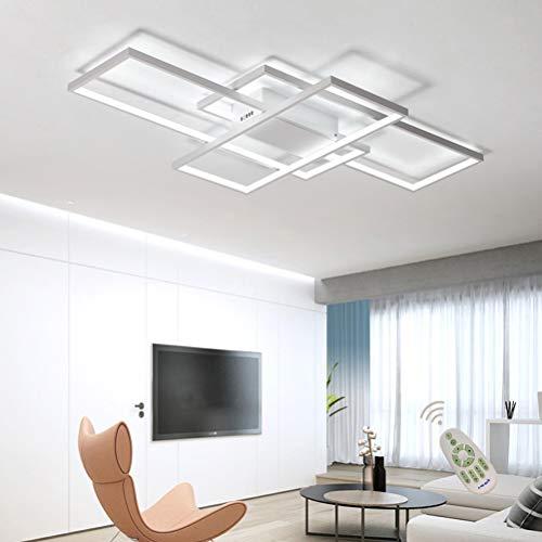 Moderna lampara LED de techo para salon, regulable, pantalla de acrilico, lampara de techo de diseno cuadrado, lampara de comedor con mando a distancia, lampara de techo, lampara colgante, cocina