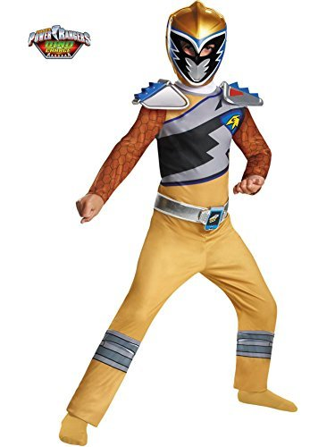 Disguise Gold Ranger Dino Charge Classic Costume, Medium (7-8) by Disguise (Power Rangers Gold Ranger Costume)