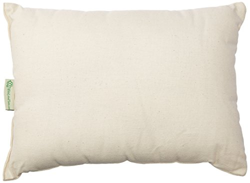 White Lotus Home OBWWSP01 100 Buckwheat and Wool Buckwool Sleep Pillow with Organic Twill Outer Case, 12×16 Travel, Natural