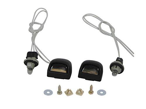 2007-2013 Silverado / 2007-2013 Sierra Rear Step Bumper License Plate Lamp Lens & Harness & Screws (Bulb & Wired)
