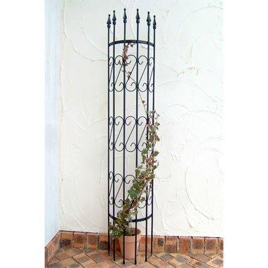 ラウンドトレリスM 2本セット(幅37cm、高さ180cm)[バラやクレマチスに!半円形の支柱] B06XKBKPG6