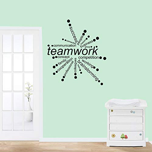 Taervy Vinly Art Decal Words Quotes Motivational Wall Sticker Teamwork Words Communication Connection People Working for Office Inspiration