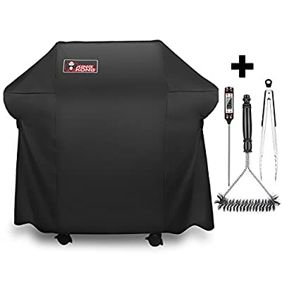 Kingkong Grill Cover 7106 Cover for Weber Spirit 200 and 300 Series Gas Grill Including Grill Brush,Tongs and Thermometer by Kingkong Inc.