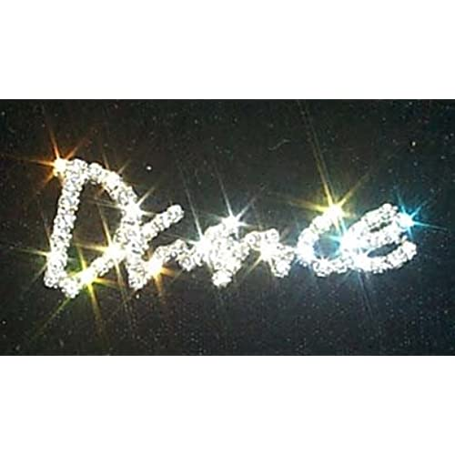 #11873 Script Rhinestone Dance Pin
