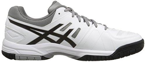 Asics Heren Gel-wijden 4 Tennisschoen Wit / Zwart / Aluminium