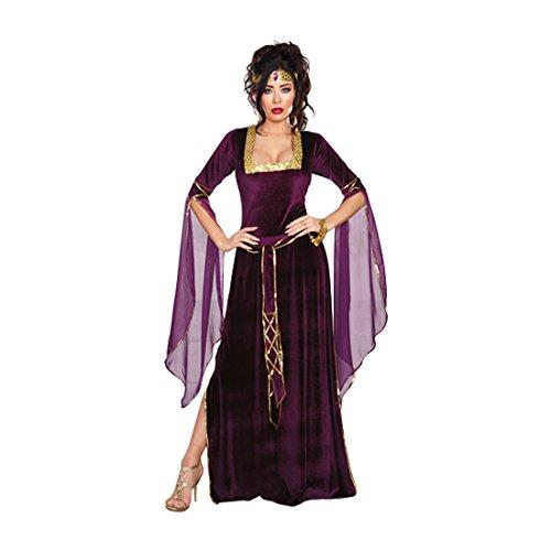Dreamgirl Women's Medieval Princess Costume, Purple/Gold, Small (Adult Princess Fancy Dress)
