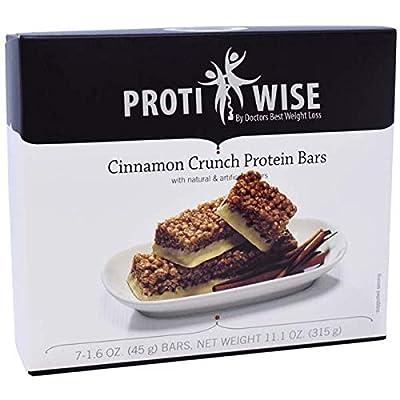 ProtiWise - High Protein Diet | Cinnamon Crunch | Low Calorie, Low Fat, Low Sugar (5/Box)