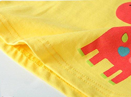 Tefamore Baby Mädchen Giraffen Drucken Laternen Hülse T-Shirt Kleidung Gelb