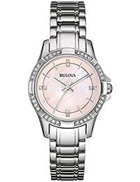 Womens 96L206XG Quartz Crystals Pink 30mm Watch (Certified Refurbished)