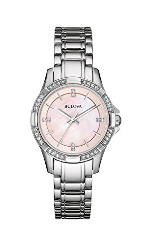 Bulova Women's 96L206XG Quartz Crystals Pink 30mm Watch (Certified Refurbished)