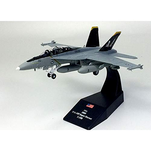 Marrsto Elaborate Edition 1/100 F/A-18F Super Hornet Battle Attack Machine  Model Pirate Flag Squadron Alloy Collection Model