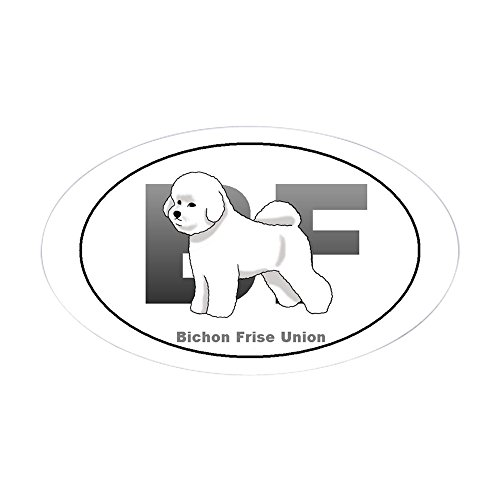 - CafePress Bichon Frise Oval Sticker Oval Bumper Sticker, Euro Oval Car Decal