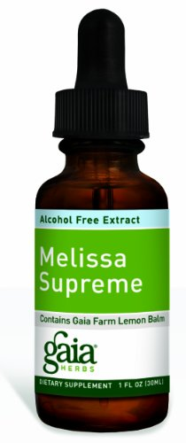 Gaia Herbs Melissa suprême, sans alcool, 1-Ounce Bottle (Pack de 2)
