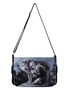 Protector - Girl With Wolf Messenger Bag Azul - Fantasía - Nemesis Now