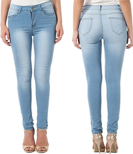 Low Rise Stretch Blue Jeans - 2