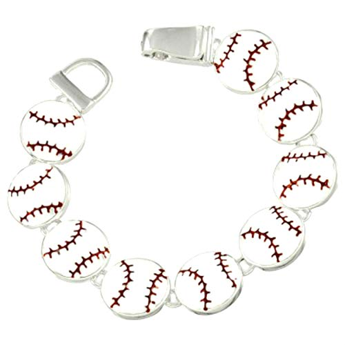 High Country Baseball Charms Link Magnetic Bracelet with Gift Box - Baseball Mom - Sports Theme