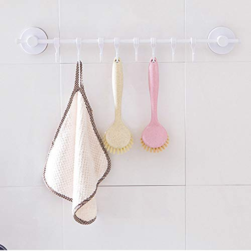 IEasⓄn Home Kitchen, Multifunctional Kitchen Cleaning Brush Washing Brush IE-NN18 (Pink) by IEasⓄn (Image #2)