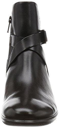 ECCO 217.153 FELICIA zapatos negros mujer negro hebilla de cuero con cremallera de arranque Nero