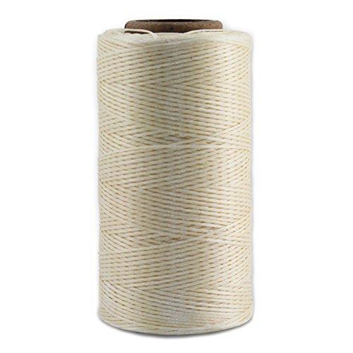 Leather Sewing Thread Stitching String - DIY Craft Flat Waxed Cord 284 Yards (Beige)
