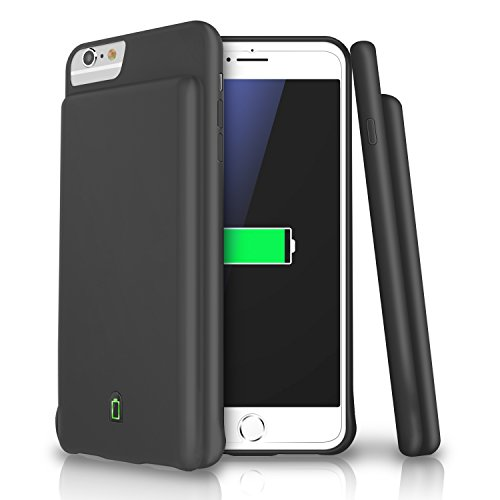 iPhone 8 / 7 / 6s / 6 Battery Case, LoHi 4500mAh Capacity Support Headphones Ultra Slim Extended Battery Rechargeable Protective Portable Charger 4.7 Inch (Black)