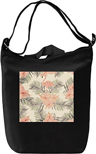 Flamingo Pattern Borsa Giornaliera Canvas Canvas Day Bag| 100% Premium Cotton Canvas| DTG Printing|