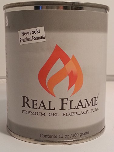 REAL FLAME COMPANY 2112 Premium Gel Fireplace Fuel Lasts Up to 3 Hours, 13 oz